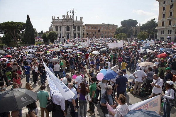 Unioni Civili, due milioni a Roma al Family Day