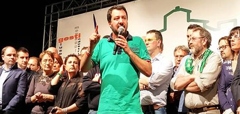 Matteo Salvini rivendica i meriti della sua politica sui migranti