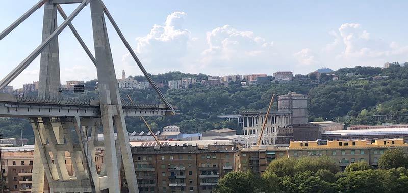Genova posata la 18esima pila del nuovo ponte