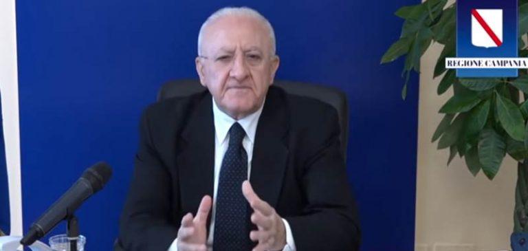 Vincenzo De Luca, nuovi aiuti per i cittadini campani