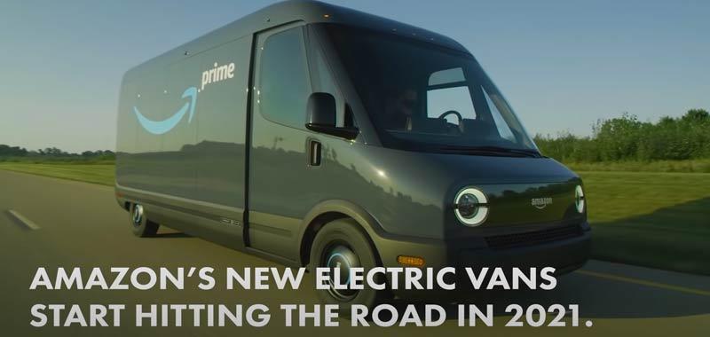 Amazon presenta i furgoni elettrici Rivian