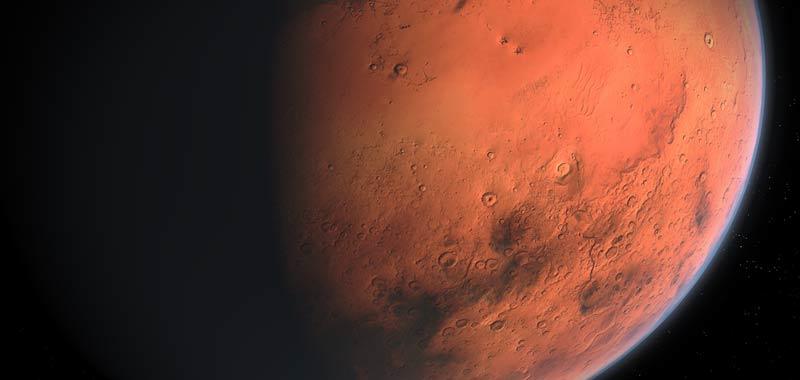 Marte piu grande di come lo abbiamo mai visto domani
