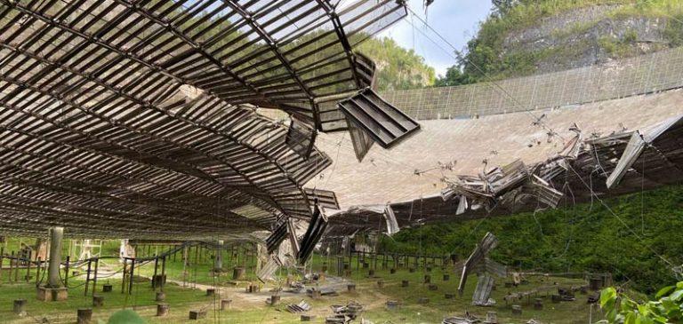 Arecibo, il radiotelescopio sta cadendo a pezzi