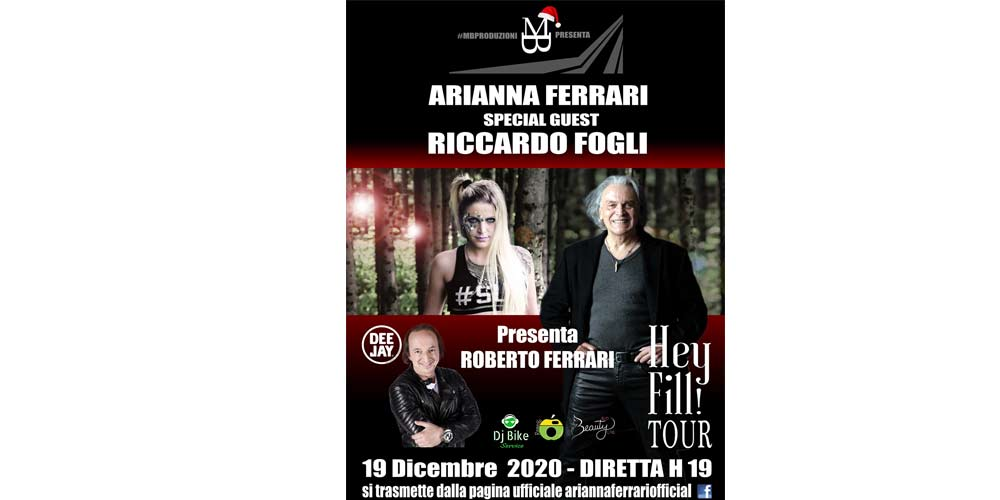 Sabato 19 dicembre Riccardo Fogli live con Arianna Ferrari