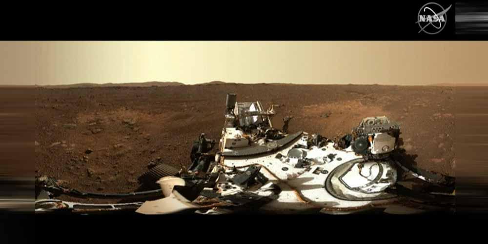 La prima camminata di Perseverance su Marte